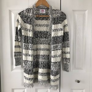 Justice Long Sleeve Open Front Cardigan Sweater